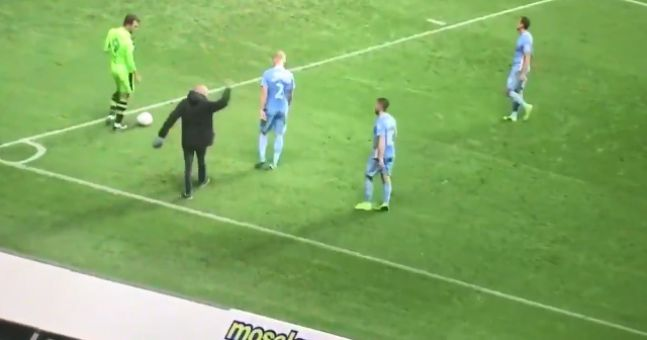 Watch farcical scenes as coventry city fan confronts for Farcical scenes