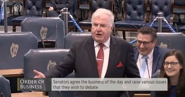 Watch farcical scenes in the seanad as senator castigates for Farcical scenes