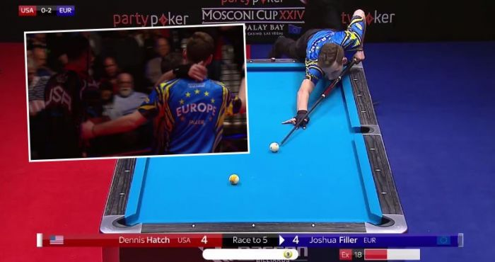 Boos Ring Out At The Mosconi Cup As American Plays Sore Loser Ballsie - Mosconi pool table