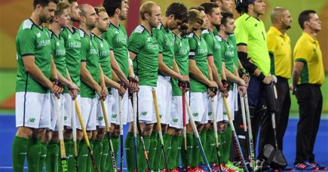 Watch farcical scenes as irish hockey team sing national for Farcical failure