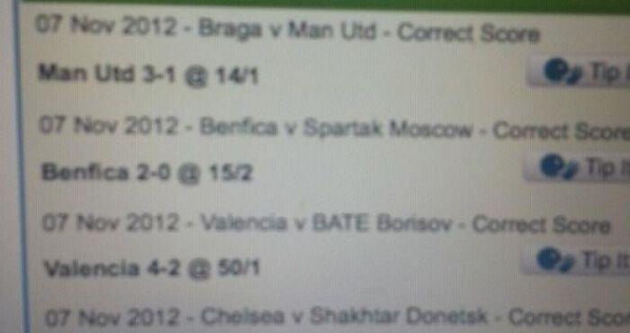 Braga Tips Correct Score
