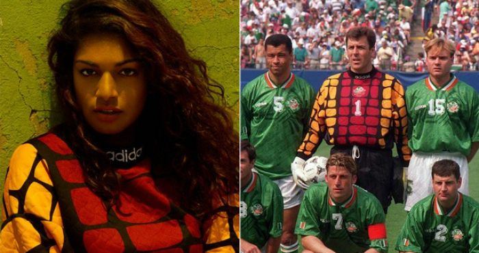 Why Was Recording Artist M.I.A Spotted Wearing Packie Bonner s USA 94 Jersey    5c6aa7908