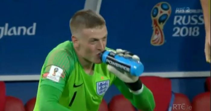 e46519c470a Water Bottle Tactic Paid Off For Jordan Pickford In Penalty Shootout ...